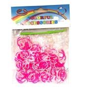 Набор Loom bands 600 шт. бело-розовые фото