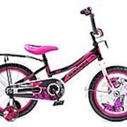 Велосипед Black Aqua HH1606 16 (Черный+розовый) фото