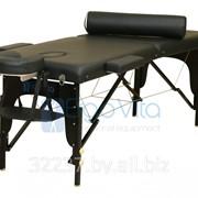 Складной массажный стол деревянный ErgoVita MASTER 67см+валик в съемной сумке (2-х секцион,черный) фото