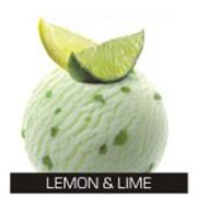Освежающий лимонный сорбет с кусочками цедры лайма фото