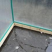 Фундамент под теплицу брус 100х100 фото