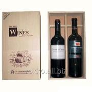 Упаковка для вина с перегородкой, сосна 10мм + Фанера 4 мм фото
