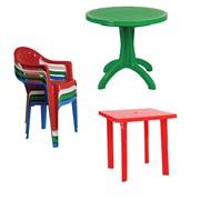 Пластиковые столы, стулья фото