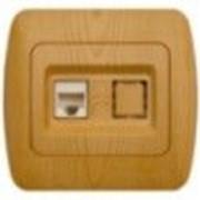 "Розетка ZIRVE компютерна (кат.5Е) ""ольха"" 501-0701-229 фото"