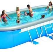 Надувной овальный бассейн BestWay 56164, 853 см x 366 см х 122 см. фото