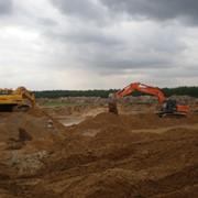 Песок мелкий природный для строительных растворов. фото
