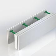 Блок несъемной комбинированной опалубки - Комблок. Разборной, 300 мм высотой, регулируемая толщина заливки бетоном от 100 до 450 мм. фото