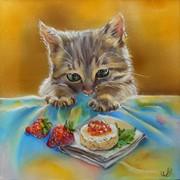 Набор для рукоделия любопытный котенок (по мотивам рисунка А.Логиновой) фото