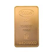 Золото в мерных слитках (20 г) фото