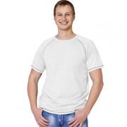 Мужская спортивная футболка StanPrint 30 Белый-Серый меланж XXL/54 фото