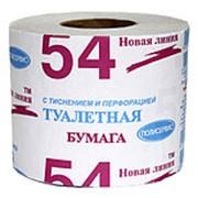Новая линия бумага 1-слойная серая 45 метров в рулоне фото