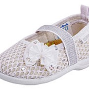 131067-11 серебряный туфли ясельно-малодетские текстиль Р-р 24 фото
