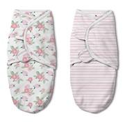 Конверт Summer Infant Конверт на липучке Swaddleme®Luxe With Easy Change, размер S/M, (2 шт.), розочки/розовые фото
