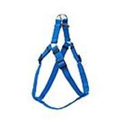 Шлейка Евро синтетич/быстросъёмная размер XS син (15мм, обхват шеи до холки 42-48см,грудь 43-52 фото