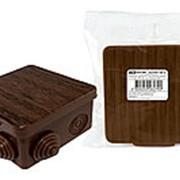 Распаячная коробка ОП 100х100х55мм, крышка, бук, IP54, 8вх. инд. штрихкод TDM фото
