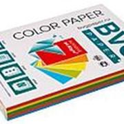 BVG Paper Бумага цветная BVG, А4, 80г, 250л/уп, радуга 5 цветов, интенсив фото