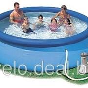 Бассейн надувной Intex 28112 (56972) Easy Set Pool 244*76 см, с фильтром-насосом фото