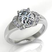 Кольца с бриллиантами R21631-1 фото