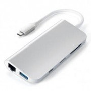 USB-хаб Satechi Aluminum Type-C Multimedia Adapter Silver (ST-TCMM8PAS) фото