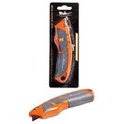 Нож строительный с трапециевидным сменным лезвием 19мм AIRLINE фото