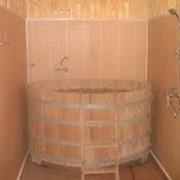 Купель для сауны и бани. Изготовлен из дуба. фото