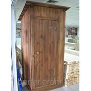 Туалет деревянный разборный фото