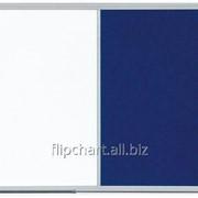 Доска COMBI маркерная магнитная/ текстильная голубая 90х60 см 2x3 (Польша) TCAST96 фото