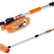Швабра с насадкой для шланга, щеткой 20см и телескопической ручкой 100см AIRLINE фото