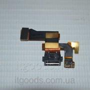 Шлейф (Flat cable) с коннектором зарядки, микрофона для Nokia Lumia 1020 фото