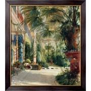 Картина Интерьер пальмового дома, Блехен, Карл фото