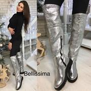 Женские стильные кожанные ботфорты еврозима, р-р 36-40 фото