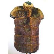 Женские жилетки из меха бобра фото