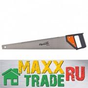 """Ножовка по дереву """"SPARTA"""" 500 мм, 5-6 TPI, каленый зуб, линейка, пластиковая рукоятка /232365 фото"""