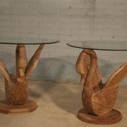 Столик (Swan table glasse top) фото