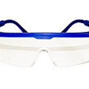 Очки строительные прозрачные синие фото