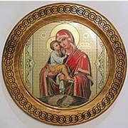 Иконы круглые, Почаевская икона Божией Матери фото