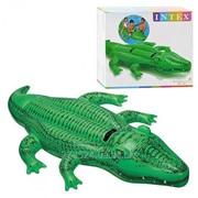 Детский надувной плотик Intex Крокодил 58562 фото