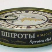 Рыбные консервы, шпроты в масле фото