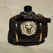 Сувенирная бутылка Бочонок Лев фото