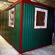 Блок-контейнер 6x2.4м зеленая фото