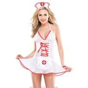 Сексуальная сорочка медработницы с ободком на голову фото