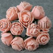 Букет светло-персиковых розочек из латекса 2,5-3,0 см 3424 фото