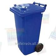 Контейнер для раздельного сбора мусора пластиковый 120 литров фото