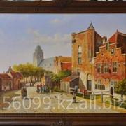 "Картина ""Старые голландские улочки"" 61х121 фото"