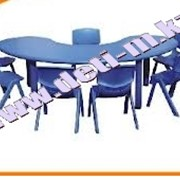 Стол детский пластиковый палитра Синий фото
