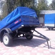 Прицеп грузовой к легковым автомобилям КрКЗ-100 с функцией самосвальной разгрузкой платформы, высота борта 450 мм фото