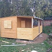 Дачный домик с верандой фото