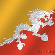 Флаг национальный Бутан фото