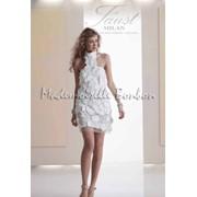 Французское короткое свадебное платье фото