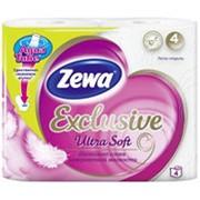 Туалетная бумага ZEWA Ультра Софт 4 слоя, 4 рулона фото